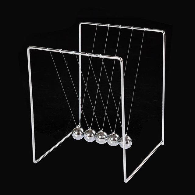 Square Stainless Steel Retro Metal Ball Decoration Stents Newton Pendulum Balls For Desk Ornaments Bumper