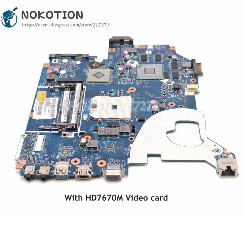 NOKOTION Laptop <font><b>Motherboard</b></font> For <font><b>Acer</b></font> <font><b>aspire</b></font> <font><b>V3</b></font>-551 <font><b>V3</b></font>-<font><b>551g</b></font> Main Board HD7670M Video card NBC1811001 NB.C1811.001 Q5WV8 LA-8331P image