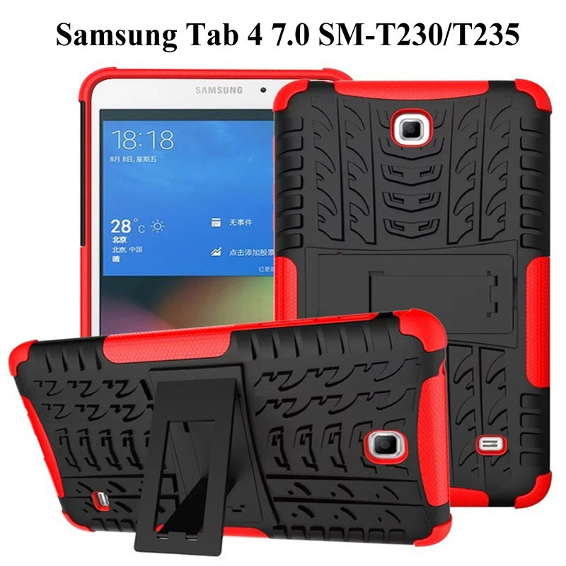 Hot Shockproof Heavy Duty Case For Samsung Galaxy Tab 4 7.0 SM-T230 T235 T231 Rugged Hybrid Tablet Protective Case+Film+Pen