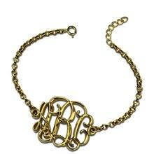 AILIN персонализированные имя браслет золотой цвет монограмма браслет цепочка монограмма 3D ювелирные изделия получить особый 3D вид