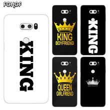 King Queen Painted Pattern Soft Rubber TPU Case For LG Q8 Q7 Q6 G6 G7 G5 G4 V40 V30 V20 V10 Transparent Cover