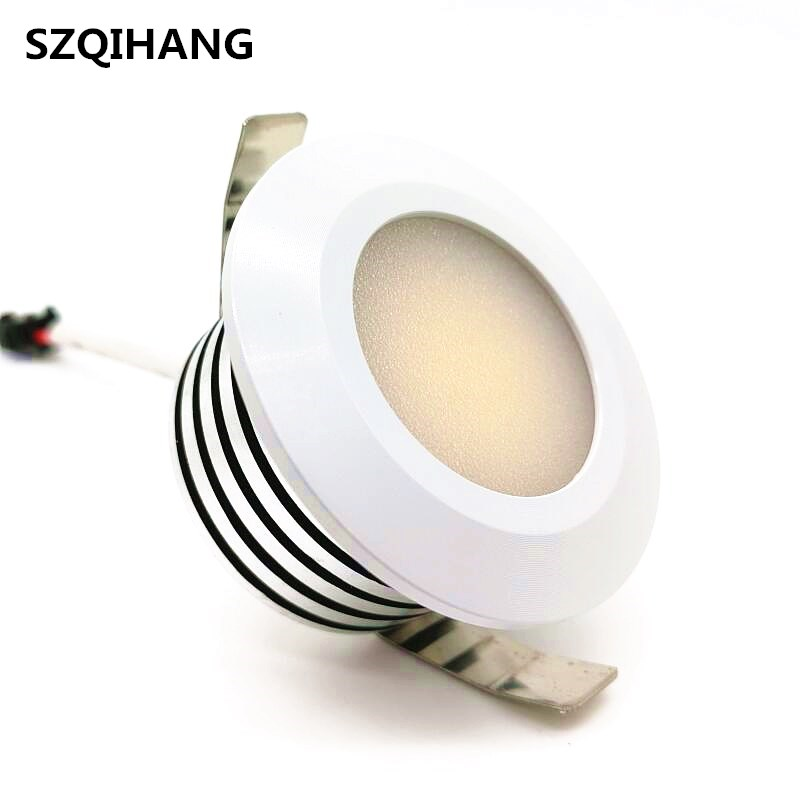 LED Downlights Round 5W COB Mini Spot Recessed Dimmable Down Lamp for Cabinet 110V 220V Home Lights Showcase Light in LED Downlights from Lights Lighting