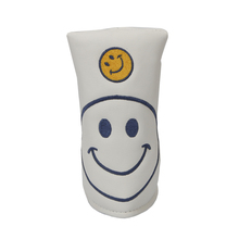 Golf Headcover PU Putter Cover Blade for Smiling face protect cover free shipping