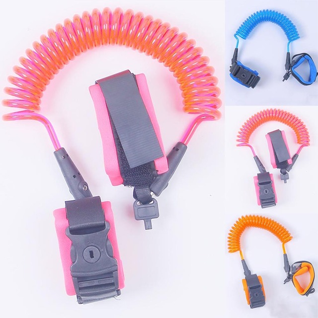 1.5/2/2.5M Adjustable Kids Safety Walking Harness Wrist Link Kids Security Bracelet Children Wrist Leash Anti-lost Belt Band 1