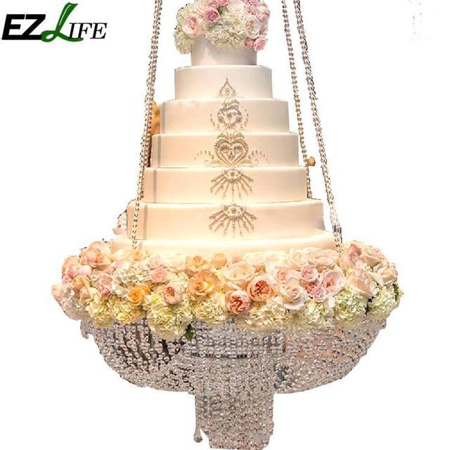 EZLIFE Luxury Hanging Cake Rack Wedding Cake Stand Transparent