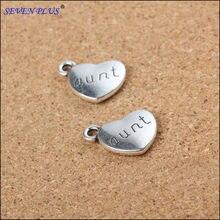 9c60180a0371 Alta calidad 10 unids lote 14mm   18mm plateado plata antigua forma de corazón  DIY encantos tía