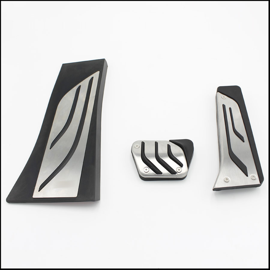 car styling Gas Footrest Modify Pedal Plate Pad AT For BMW X5 X6 E70 E71 E72 F15