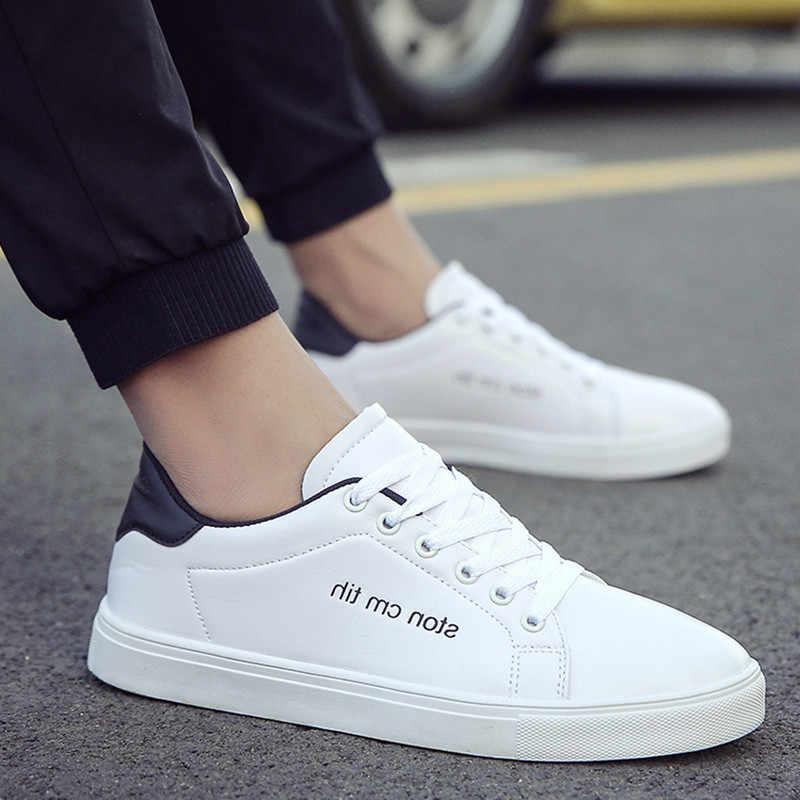 78ff64fb7 Парусиновые туфли tenis masculino adulto дышащая повседневная мужская обувь  2018 новые модные студентов белая доска мужской