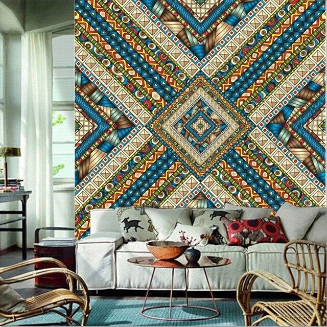 Custom 3d Large Muralbeautiful India Pattern Murals Papel De Parede