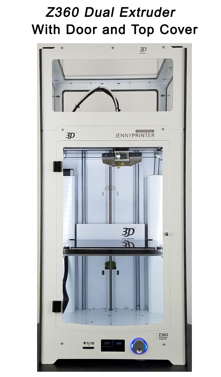 Prix pour Date JennyPrinter3 Z360 Double Extrudeuse Buse Imprimante 3D DIY KIT Pour Ultimaker 2 UM2 Étendue Avec Couvercle et couvercle Porte