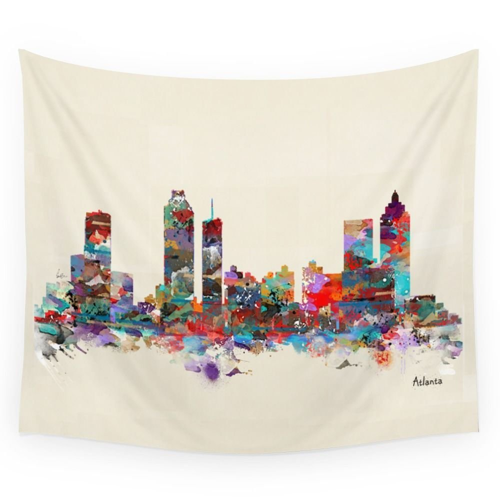 Atlanta Georgia Wall Tapestry Wedding Party Gift Bedspread Beach Towel Yoga Picnic Mat image