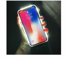 Светящиеся чехол для телефона для iPhone X Case Фото заполняющий свет артефакт для iPhone 6 plus селфи мобильный корпус чехол для iPhone 6 крышка