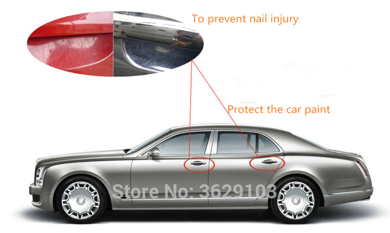 4pcs car door handle sticker protective film accessories car-styling for Land Rover discovery 2 3 4 freelander 2 defender a9 a8