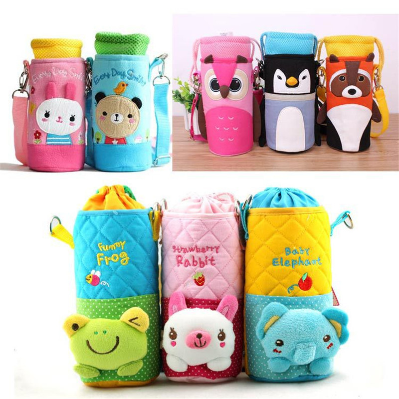 New Mummy Bags Kids Cartoon Food Feeding Bottle Thermal Bag Keep Warm Thermol Storage Insulation Bag Stroller Diaper Bag