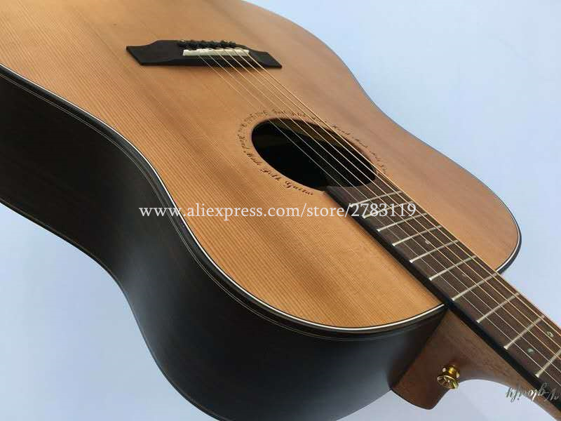 professional full solid guitar 41 acoustic guitar solid cedar top solid rosewood body guitars. Black Bedroom Furniture Sets. Home Design Ideas