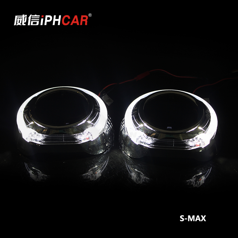 Free Shipping IPHCAR LHD/RHD LED Angel Eyes Halo HID Bi xenon Lens Projector Headlight Retrofit Xenon Headlamps Car Styling