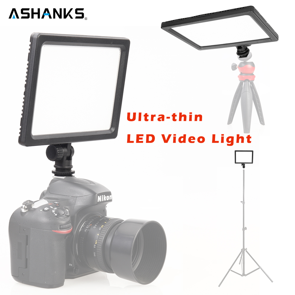 ASHANKS Professional Ultra thin LED Video Light 3200K 5600K for Light Adjustable Brightness and Dual Color