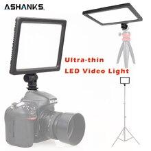 ASHANKS Profesyonel Ultra-ince LED Video Işık için 3200 K-5600 K Işık Ayarlanabilir Parlaklık ve Çift Renk Canon Nikon için Temp