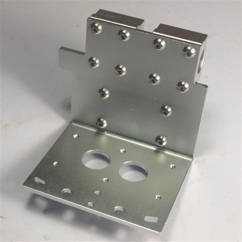 ФОТО Reprap Prusa i3 3D printer parts X axis dual hotend  X Metal dual exturder carriage aluminum alloy 45mm hole distance
