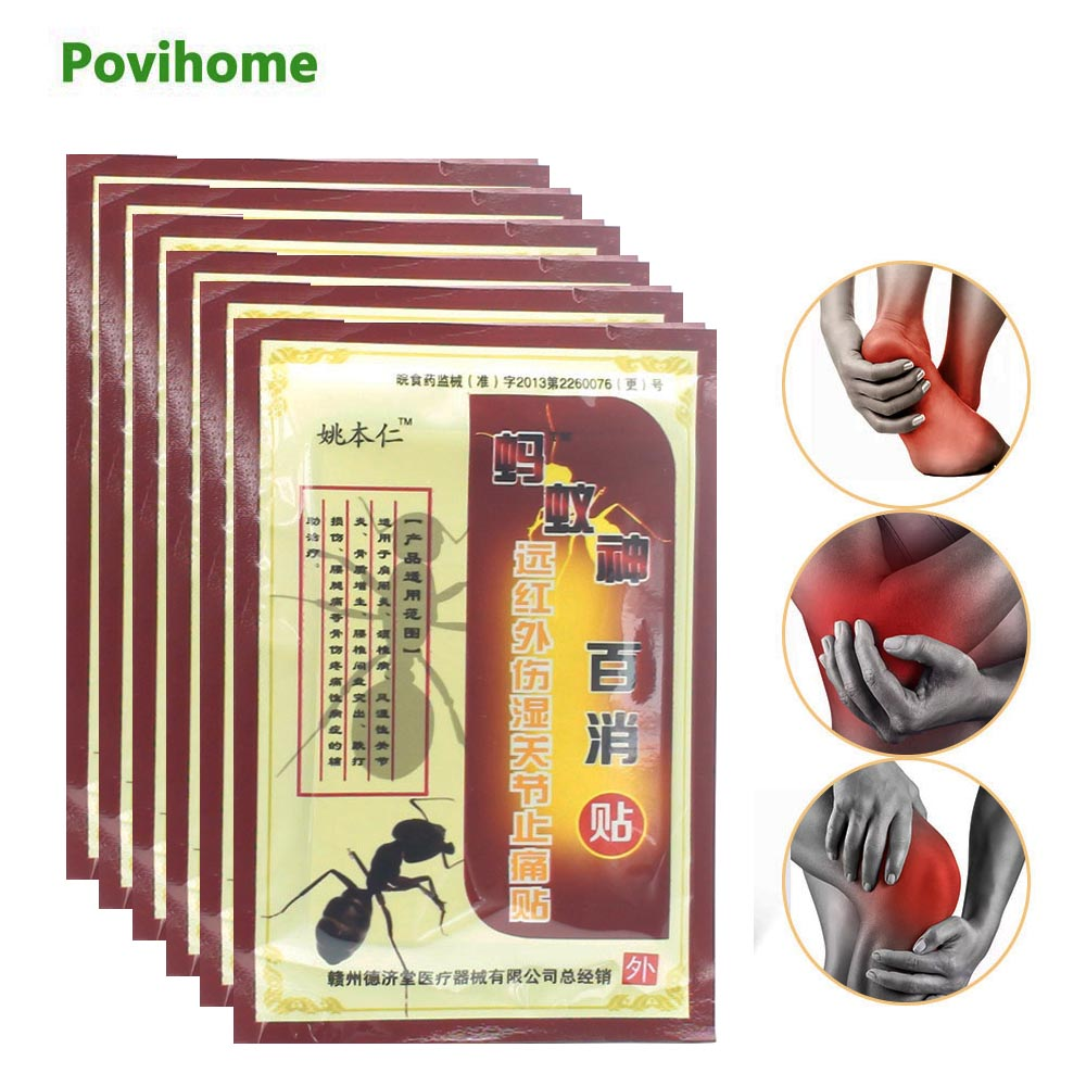 8pcs Body Muscle Aches Capsicum Patches Muscular Fatigue Arthritis Orthopedic Joint Pain Relief Chinese Medical Plaster C509