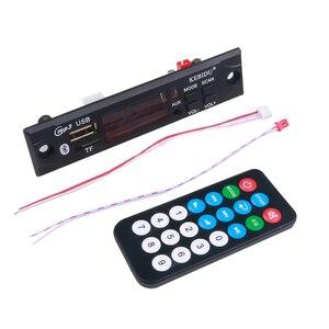 Image 5 - Kebidu voiture Audio FM Radio Module sans fil Bluetooth 5V 12V MP3 WMA décodeur carte lecteur MP3 avec télécommande Support USB TF