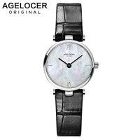 AGELOCER 2019 минимализм повседневное женские наручные часы Стильный белый кварцевые наручные часы для леди Элитная одежда женщина бизнес