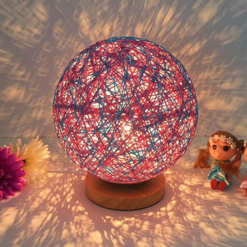 4 шт./лот Творческий 100% твердой древесины сепактакрау красочные светодиодный ночник детский прикроватная тумбочка для спальни светодиодны...