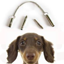 1Pcs Pet Dog Cat Training Obedience Silver Whistle Ultrasonic Supersonic Sound Pitch Quiet Trainning Whistles Pets Supplies