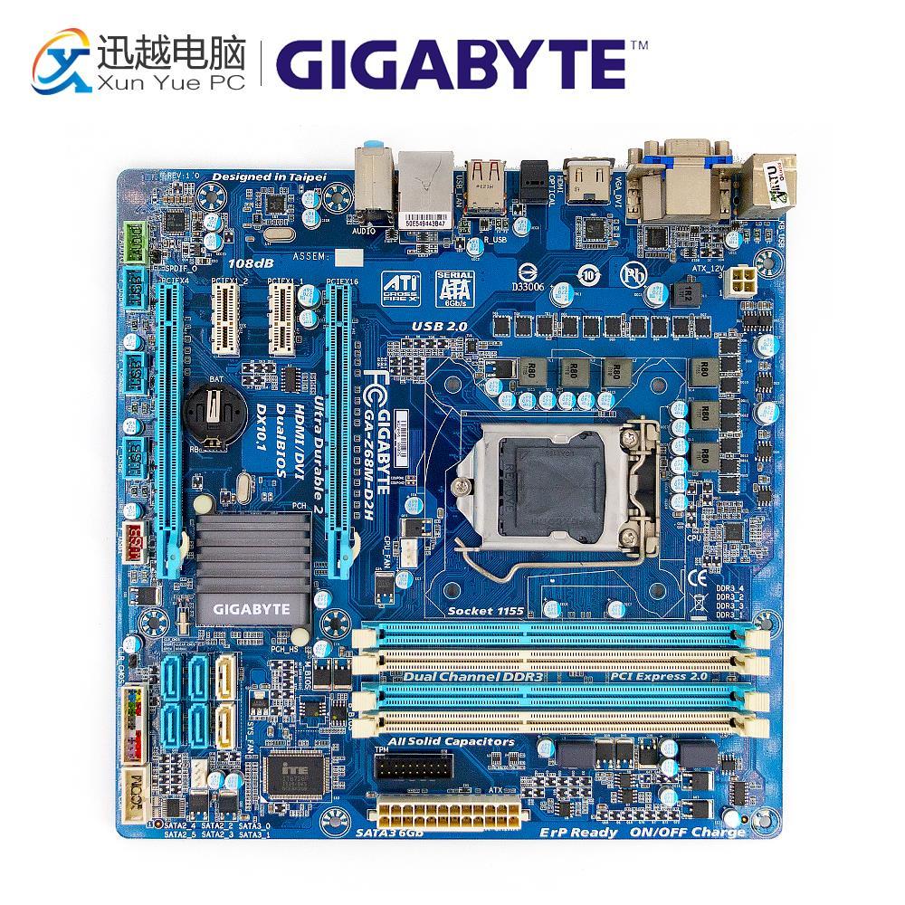Gigabyte GA-Z68M-D2H Desktop Motherboard Z68M-D2H Z68 LGA 1155 i3 i5 i7 DDR3 32G SATA3 Micro-ATX цена