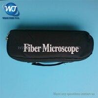 Frete Grátis Handheld 200x Microscópio de Inspeção De Fibra Óptica com Adaptador de 2.5mm e 1.25mm