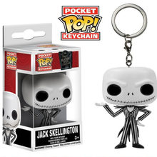 Bolso Keychain Pop FUNKO POP Q Versão Oficial Jack Skellington The Nightmare Before Christmas Chave Boneca Action Figure Toy Presente(China)