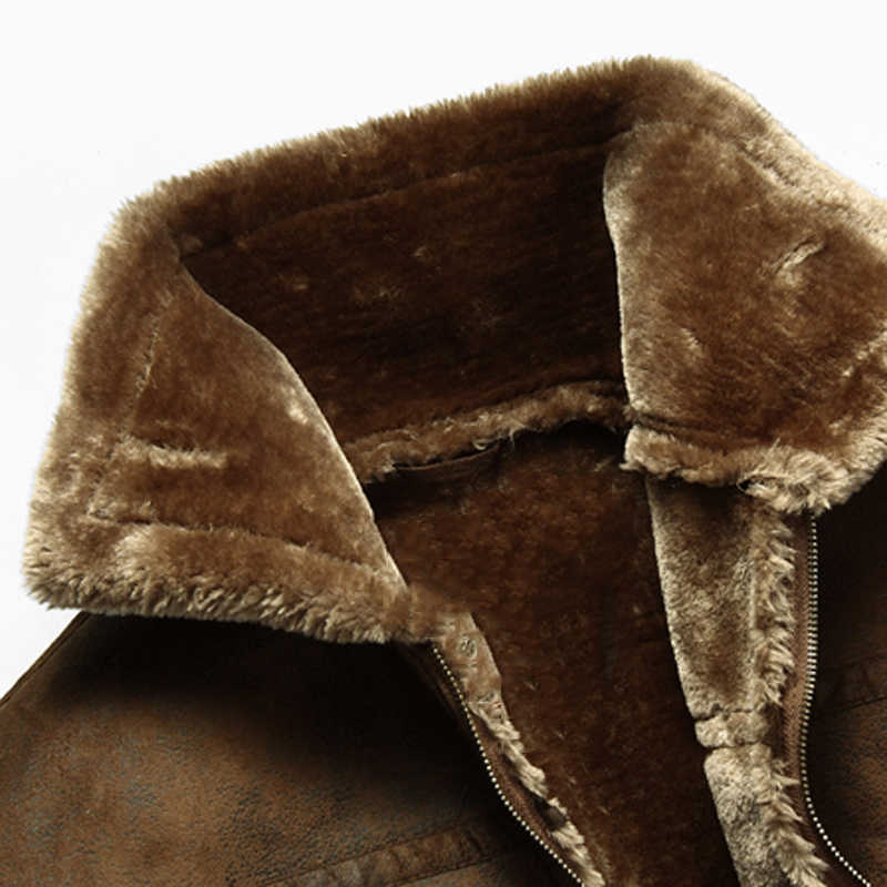 厚く暖かい冬メンズフェイクファーレザージャケットオーバー2018プラスサイズ3xlヨーロッパスタイルヴィンテージメンズ冬の毛皮のコートc1224