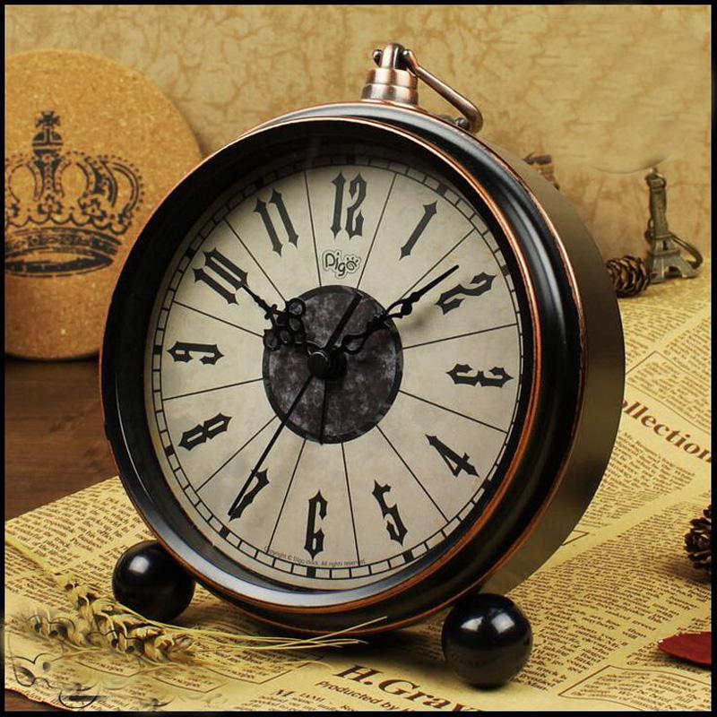 vintage retro reloj despertador de escritorio para nios dormitorio silencio no ticking nueva llegada