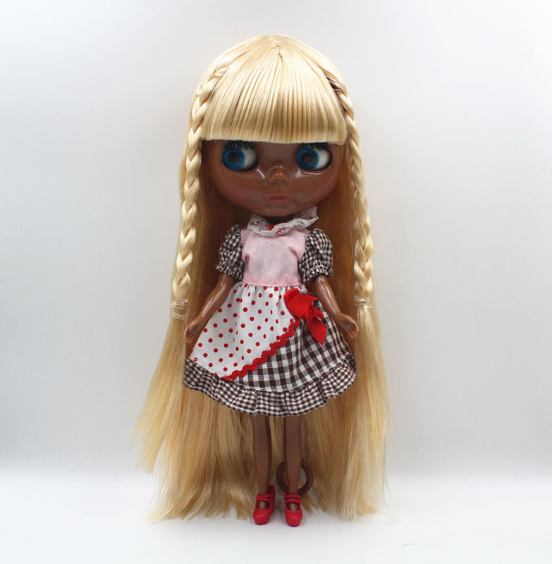 Free Shipping big discount RBL-434 DIY Nude Blyth doll birthday gift for girl 4colour big eye doll with beautiful Hair cute toy free shipping big discount rbl 331 diy nude blyth doll birthday gift for girl 4colour big eye doll with beautiful hair cute toy