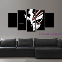 Large Framed BLEACH Kurosaki Ichigo Mask Decor canvas decoration 5 piecesT5 7601