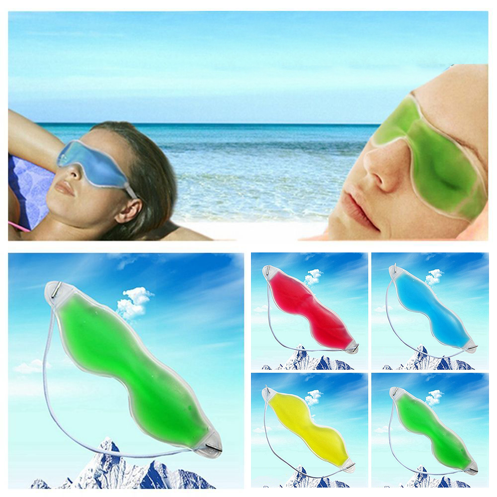 1 x Gel Cold Sleeping Eye Mask Goggles Gel Sleep Eye Protection Ice Cool Soothing Tired Eye Eye Care Tools Remove Dark Circle(China)