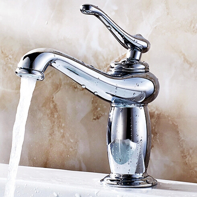 Teapot Shaped Basin Faucet Brass With Ceramic Hole Bathroom Mixer - Used bathroom faucets