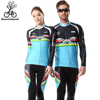 Thin Long Breathable Team Cycling Jersey Set Long Sleeve Racing Cloth MTB Ropa Ciclismo Bicycle Maillot