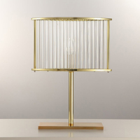 Crystal Table Lamp Luxury Lamps Desk Gold Kristal Modern Lights Glass Light Led Tischleuchte L320 H420 W110Mm