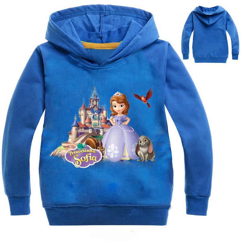 2018 ארוך שרוול נים סתיו סווטשירט עבור בנות נסיכת סופיה תלבושות סופיה נסיכת סווטשירט עבור בני נוער בנות בגדים
