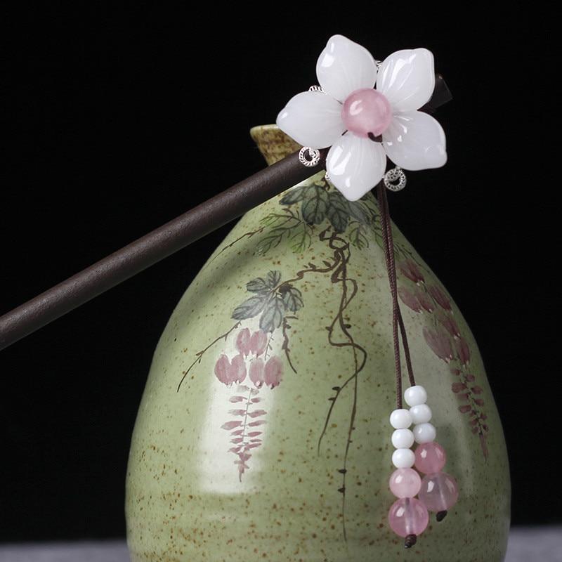 Handmade Wooden Flower Hairpin 5