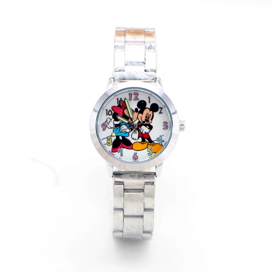2019 New Cartoon Minnie Children Kids Watch Ladies Stainless Steel Women Boy Girls Watches Relojes Montres Kol Saati