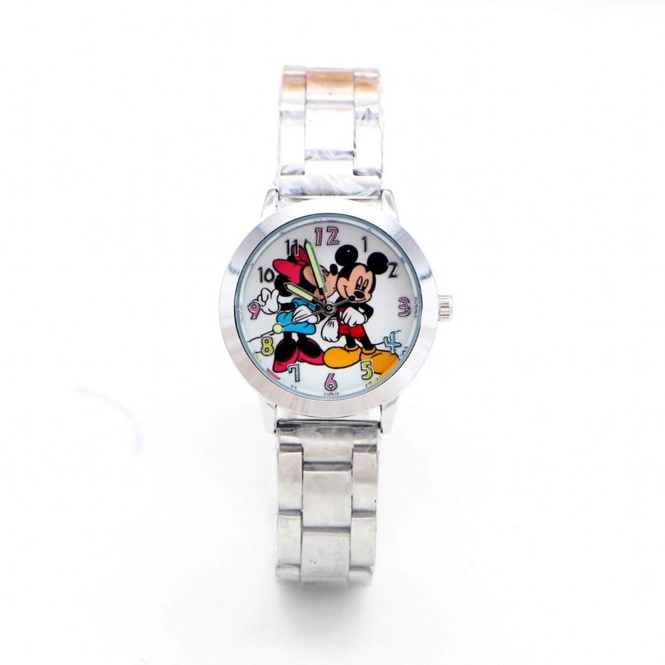 2019 New Cartoon Minnie Children Kids Watch Ladies Stainless Steel Women Boy Girls Watches Relojes Montres Kol Saati