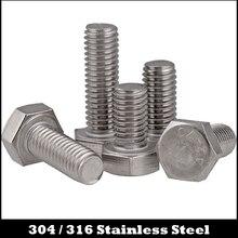 M8 M8*18 M8x18 M8*20 M8x20 M8*30 M8x30 304 316 Stainless Steel ss Bolt DIN933 Metric Full Thread External Hex Hexagon Head Screw