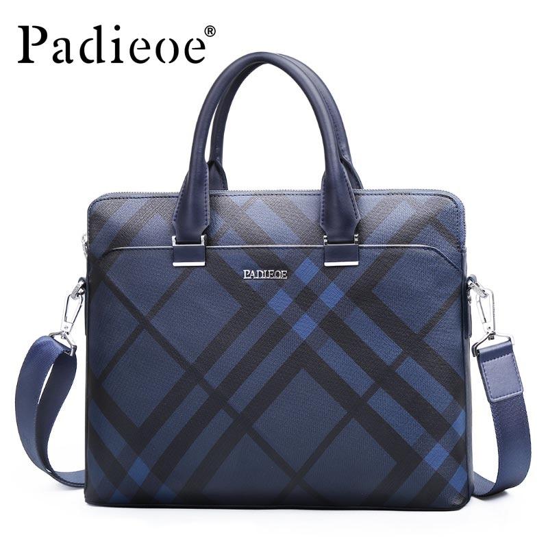 "Padieoe NB171258-1 Male Briefcase Men's 2019 New Fashion Messenger Shoulder Bag Male High Quality 14"" Laptop Portfolio Bags"