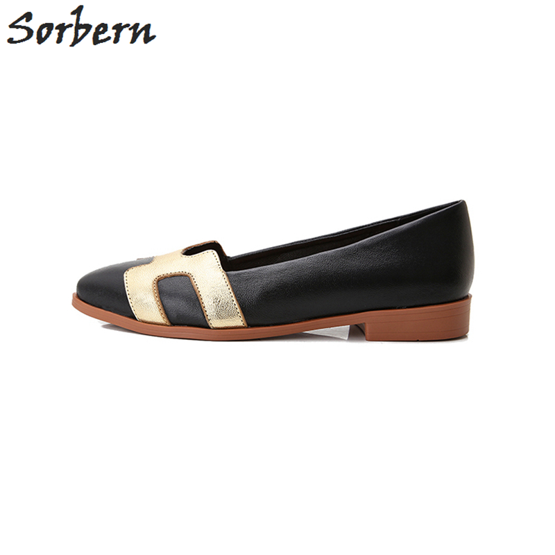 Sorben Vente De Plat Peau Souliers Slip Noir Chaussures Cuir Sur Femmes Casual Automne Mode Femme 2017 En Mouton Pour rBtprxv