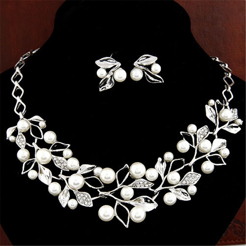 ZOSHI Elegant Simulated Pearl Bridal Jewelry Sets Wedding