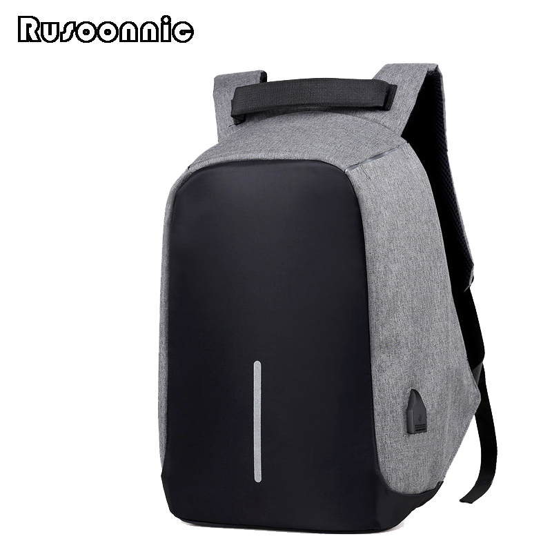 Rusoonnic Anti Theft Backpack Men Oxford Bag Retro Backpacks escolar bagpack Women Laptop School Bags Mochila Mochilas escolar waterproof bag pouch w compass armband neck strap for iphone 5 4 4s camouflage green page 7