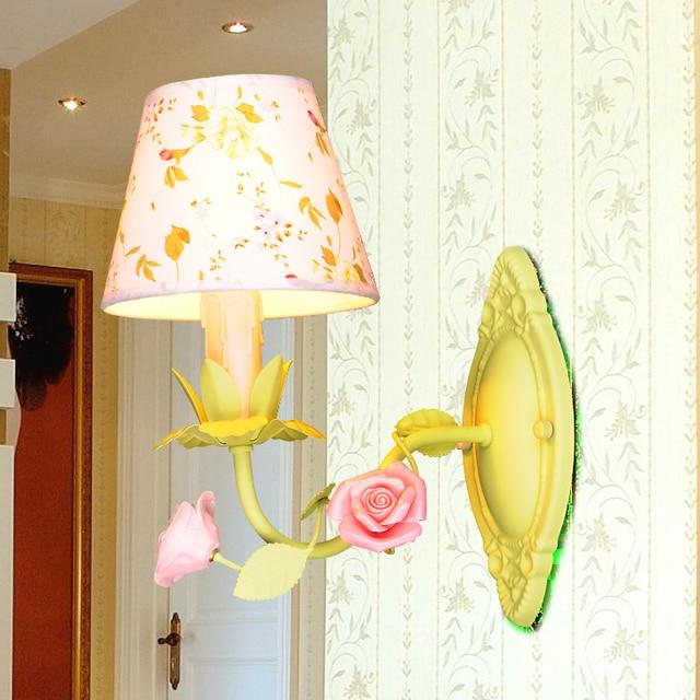 Girl room Wall Lamps rustic iron Rose lamp wall lighting mirror ...