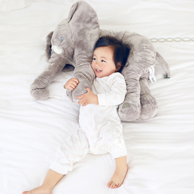 Kids Cute Gifts 1Pcs 5 Color Baby Gray Elephant Plush Toys Stuffed Pillow Newborn Cushion Doll Bedding Elephant with Long Nose цена